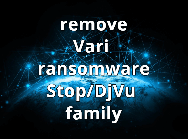 remove Vari ransomware