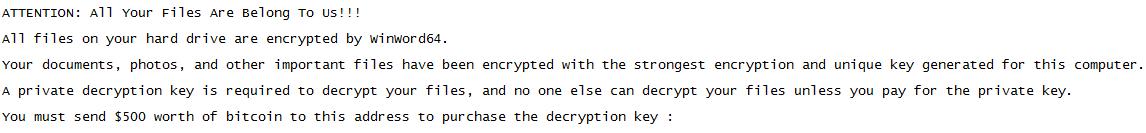 décrypter les fichiers .WinWord64