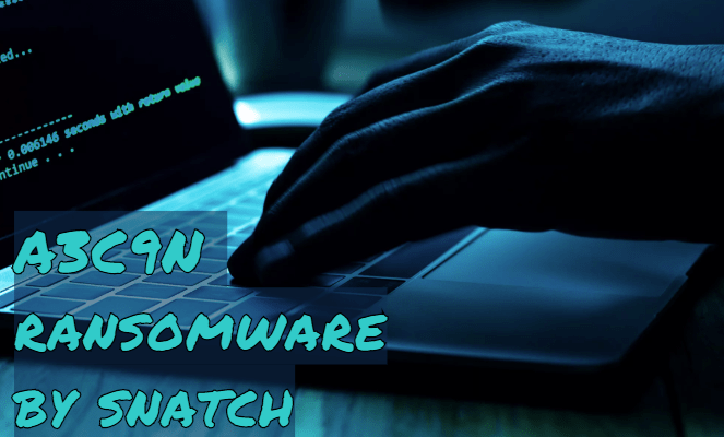 remove A3C9N ransomware