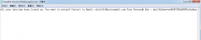 décrypter les fichiers .Alix1011RVA
