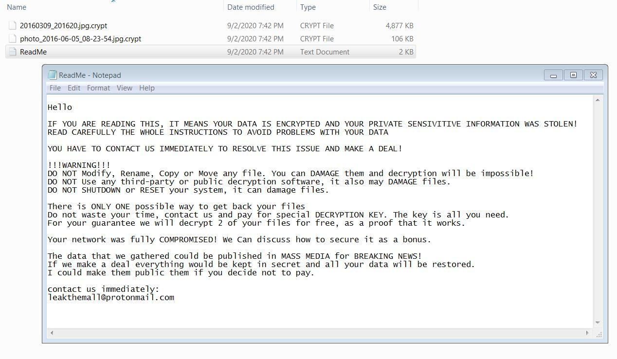 decrypt .CRYPT Dateien