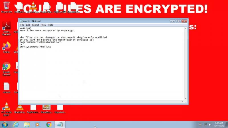 .dogecrypt-Dateien entschlüsseln