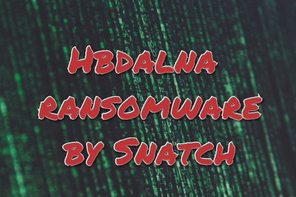 remover Hbdalna ransomware