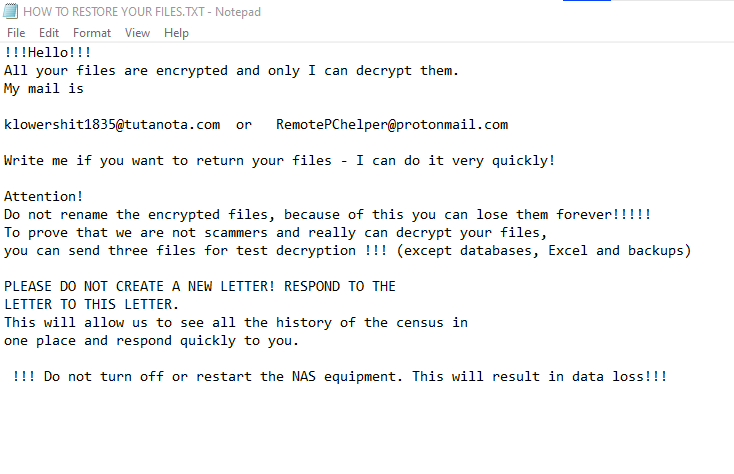 remover Space ransomware