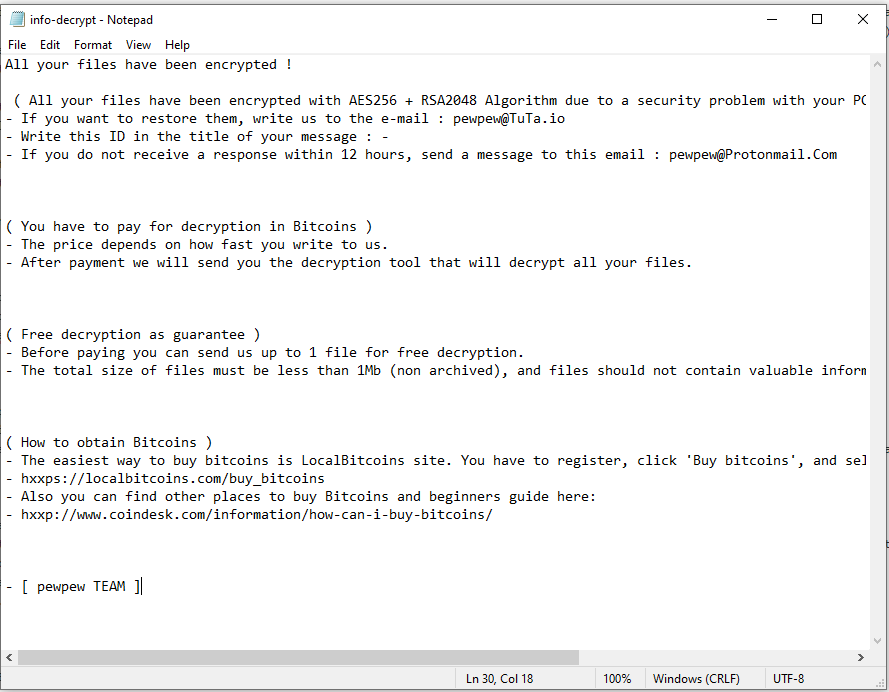 supprimer abkir ransomware