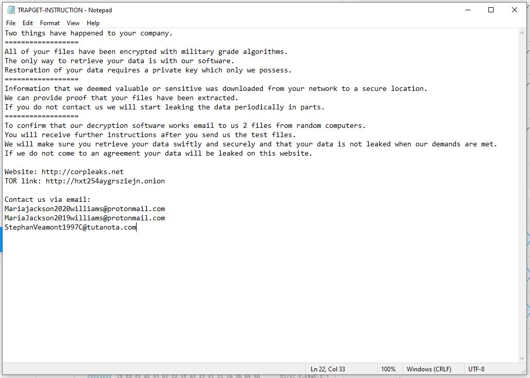 desencriptar archivos .Trapget