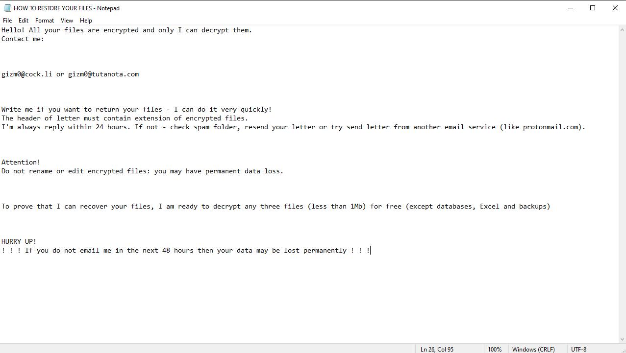 decrypt .Lizehopm files