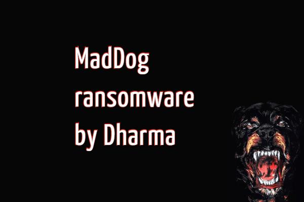remove MadDog ransomware