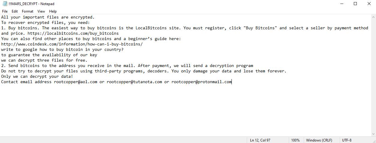 decrypt .mars files