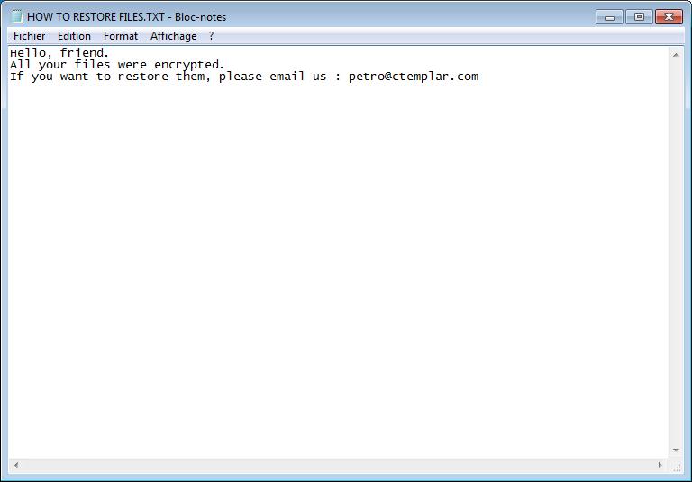 descriptografar arquivos .RegretLocker