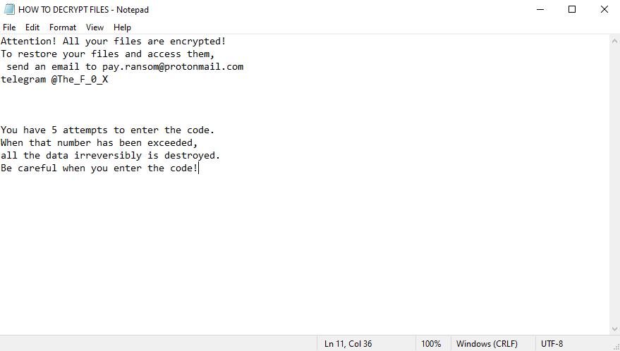 decrypt .F0x files