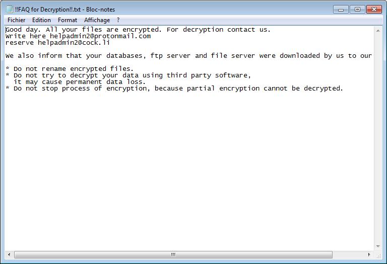 décrypter les fichiers .cuba
