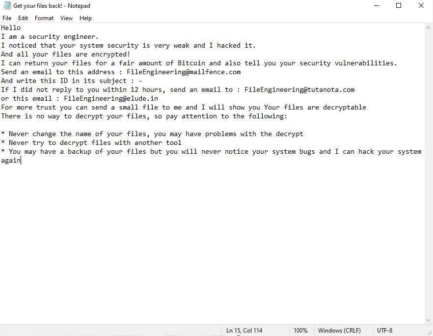 decrypt .FileEngineering files