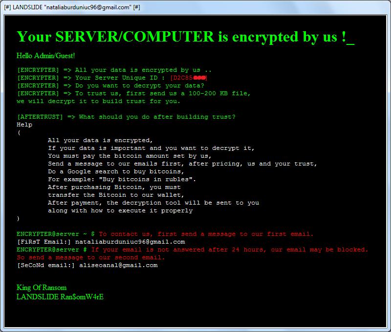 decrypt .LandSlide files