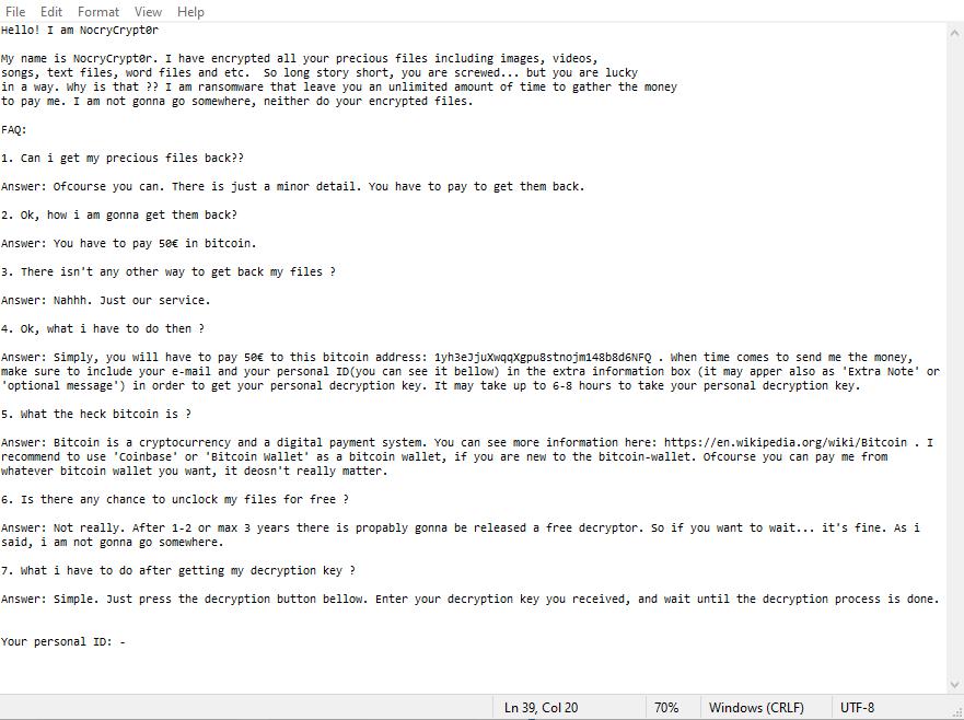 decrypt .NocryCrypt0r files
