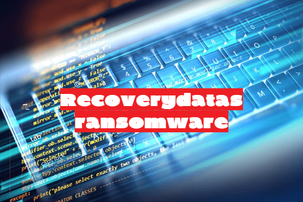 remover o ransomware Recoverydatas