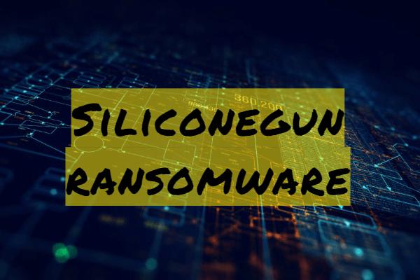 Entfernen Sie Siliconegun Ransomware