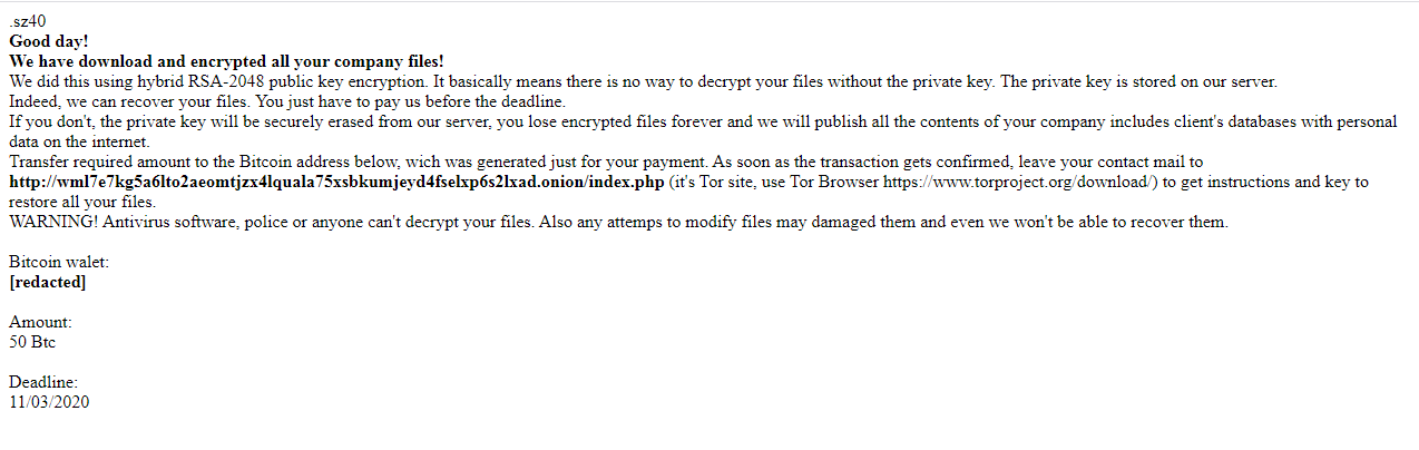 decrypt .SZ40 files