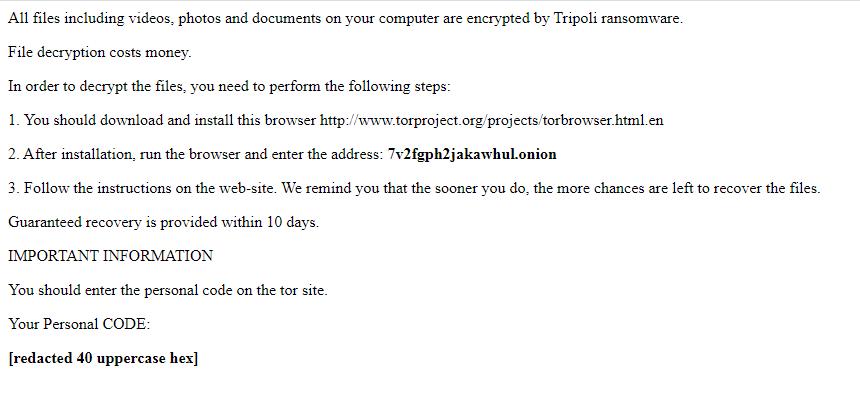 décrypter les fichiers .Tripoli