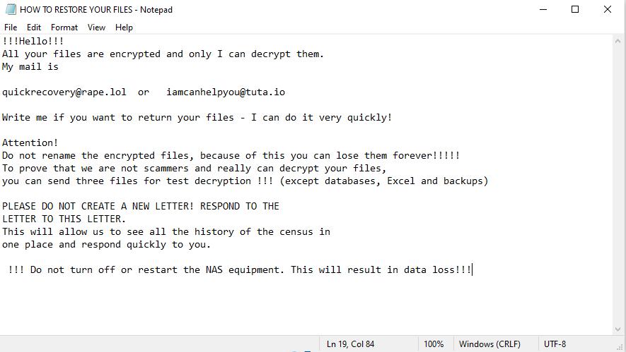 décrypter les fichiers .Uhofbgpgt