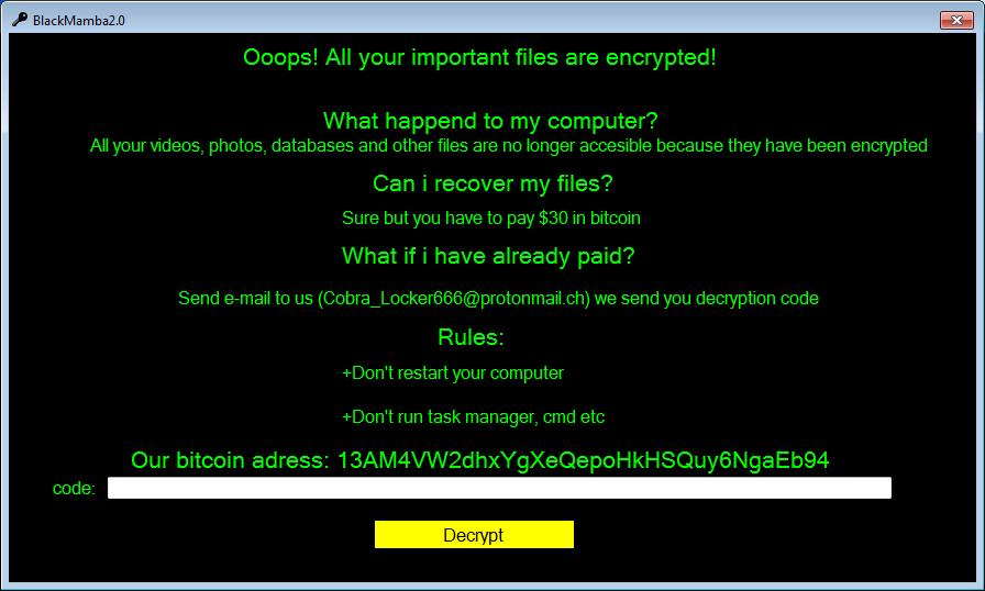 decrypt .BlackMamba files
