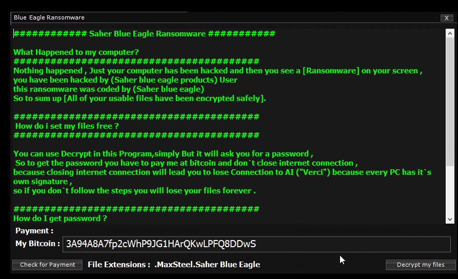 decrypt .BlueEagle files