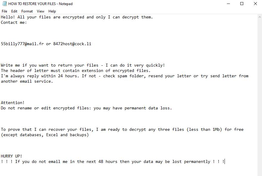 decrypt .Fybtwagknr files