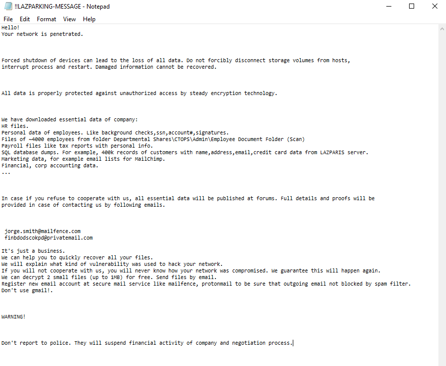 decrypt .LAZPARKING files