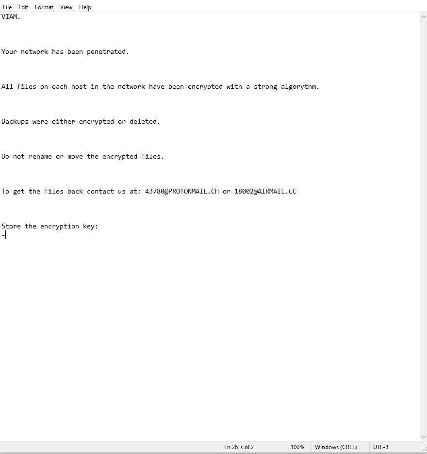 decrypt .VIAM files