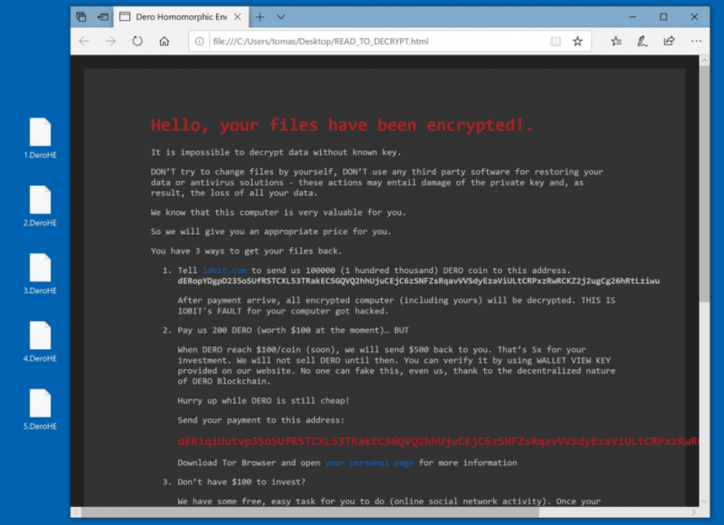 decrypt .DeroHE files