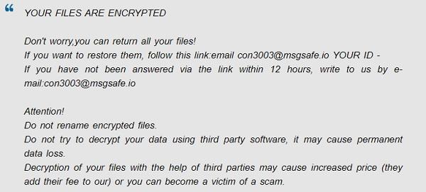 remove con 30 ransomware