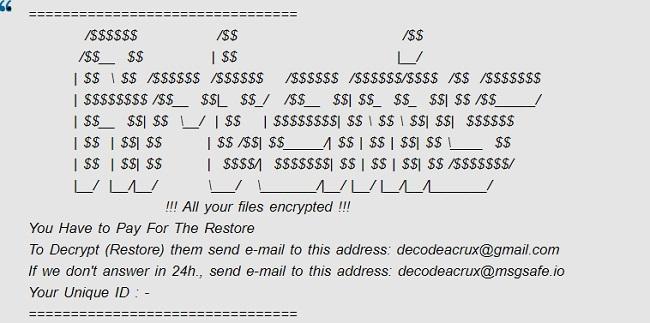 remove acrux ransomware