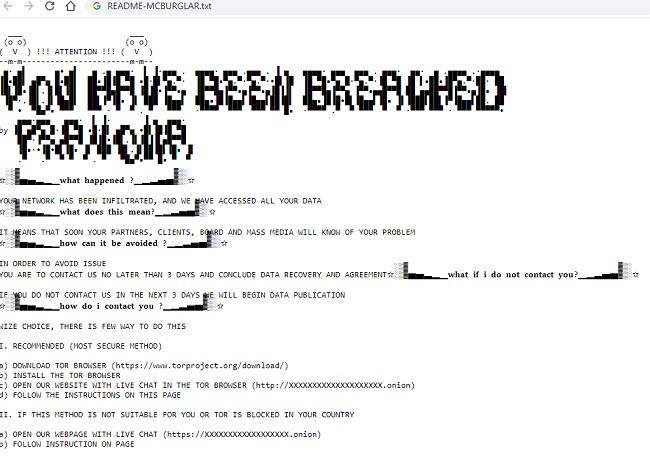 remove mcburglar ransomware